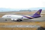 Jyunpei Ohyamaさんが、関西国際空港で撮影したタイ国際航空 747-4D7の航空フォト(写真)