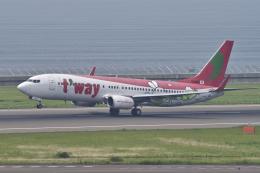 yabyanさんが、中部国際空港で撮影したティーウェイ航空 737-8Q8の航空フォト(飛行機 写真・画像)