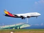 PW4090さんが、関西国際空港で撮影したアシアナ航空 747-48Eの航空フォト(写真)