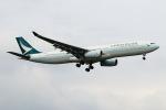 funi9280さんが、新千歳空港で撮影したキャセイパシフィック航空 A330-343Xの航空フォト(飛行機 写真・画像)
