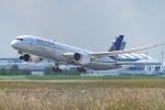 gomaさんが、ミュンヘン・フランツヨーゼフシュトラウス空港で撮影したユナイテッド航空 787-9の航空フォト(写真)
