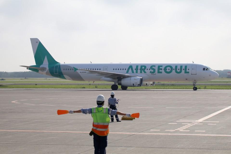 北の熊さんのエアソウル Airbus A321 (HL8266) 航空フォト