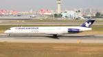 誘喜さんが、アタテュルク国際空港で撮影したイランエアツアーズ MD-83 (DC-9-83)の航空フォト(写真)