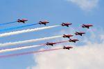 まいけるさんが、ファンボロー空港で撮影したイギリス空軍 BAe Hawk T1Aの航空フォト(写真)