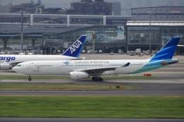 飛行機ゆうちゃんさんが、羽田空港で撮影したガルーダ・インドネシア航空 A330-343Eの航空フォト(飛行機 写真・画像)