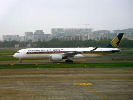 まいけるさんが、チャトラパティー・シヴァージー国際空港で撮影したシンガポール航空 A350-941の航空フォト(飛行機 写真・画像)