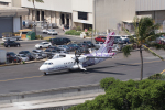 かずまっくすさんが、ダニエル・K・イノウエ国際空港で撮影したオハナ・バイ・ハワイアン ATR-42-500の航空フォト(写真)
