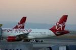 KAZKAZさんが、サンフランシスコ国際空港で撮影したヴァージン・アメリカ A319-112の航空フォト(写真)