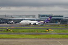 tsubasa0624さんが、羽田空港で撮影したタイ国際航空 747-4D7の航空フォト(飛行機 写真・画像)