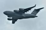うめやしきさんが、厚木飛行場で撮影したアメリカ空軍 C-17A Globemaster IIIの航空フォト(飛行機 写真・画像)