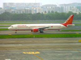 まいけるさんが、チャトラパティー・シヴァージー国際空港で撮影したエア・インディア A321-211の航空フォト(飛行機 写真・画像)