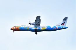 Hiro Satoさんが、スワンナプーム国際空港で撮影したバンコクエアウェイズ ATR-72-500 (ATR-72-212A)の航空フォト(飛行機 写真・画像)
