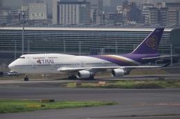 飛行機ゆうちゃんさんが、羽田空港で撮影したタイ国際航空 747-4D7の航空フォト(飛行機 写真・画像)