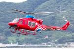 triton@blueさんが、岡南飛行場で撮影した岡山県消防防災航空隊 412EPの航空フォト(写真)