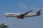 LAX Spotterさんが、ロサンゼルス国際空港で撮影したカタールアミリフライト 747-8KB BBJの航空フォト(写真)