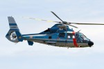 出戻りさんが、静浜飛行場で撮影した静岡県警察 AS365N1 Dauphin 2の航空フォト(写真)