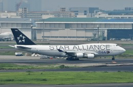 Dojalanaさんが、羽田空港で撮影したタイ国際航空 747-4D7の航空フォト(飛行機 写真・画像)