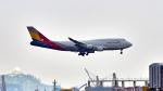 FlyingMonkeyさんが、香港国際空港で撮影したアシアナ航空 747-48EMの航空フォト(写真)