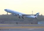 ふじいあきらさんが、成田国際空港で撮影したキャセイパシフィック航空 A330-343Xの航空フォト(飛行機 写真・画像)