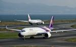 くれないさんが、関西国際空港で撮影したタイ国際航空 A350-941XWBの航空フォト(写真)