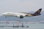 HEATHROWさんが、香港国際空港で撮影したUPS航空 747-8Fの航空フォト(写真)