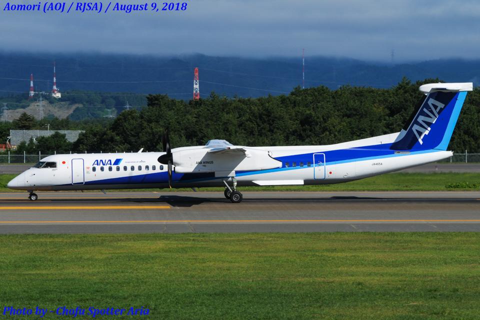 Chofu Spotter AriaさんのANAウイングス Bombardier DHC-8-400 (JA465A) 航空フォト