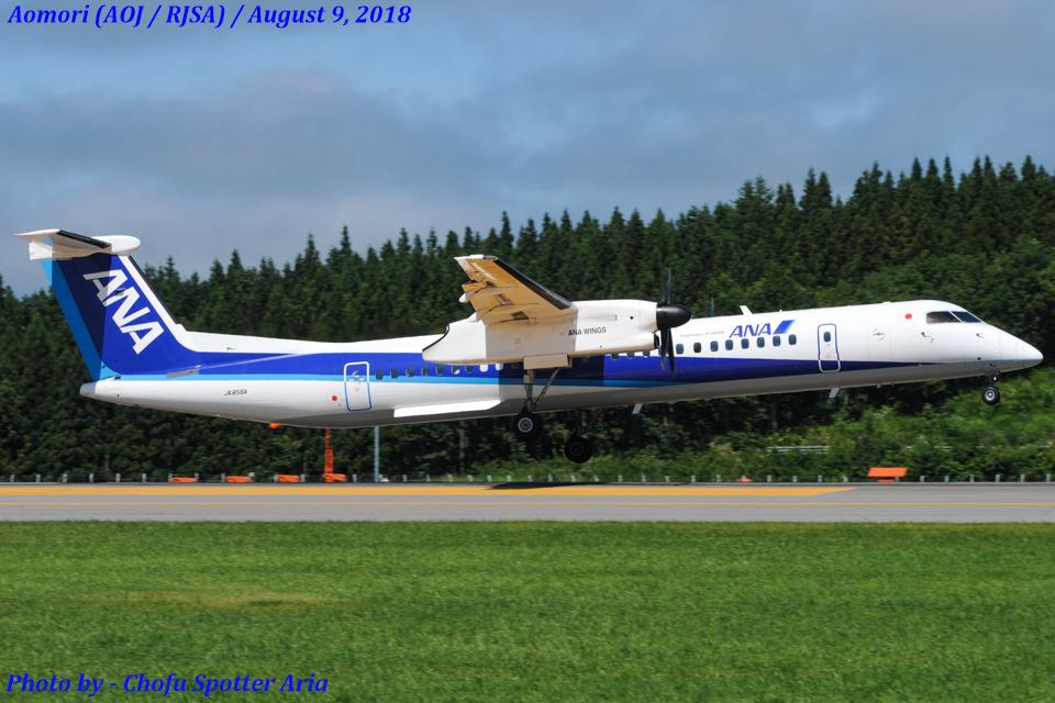Chofu Spotter AriaさんのANAウイングス Bombardier DHC-8-400 (JA856A) 航空フォト