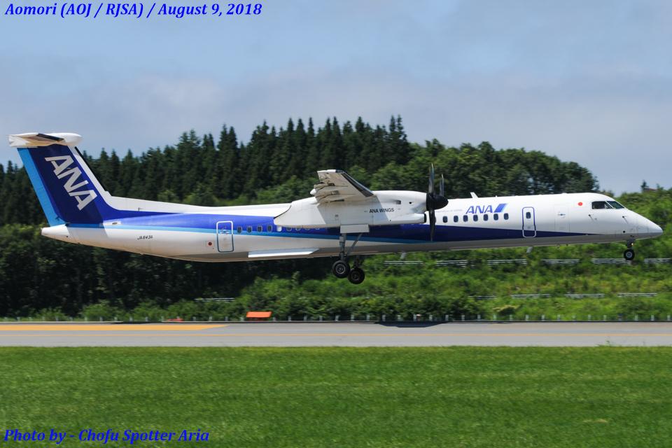 Chofu Spotter AriaさんのANAウイングス Bombardier DHC-8-400 (JA843A) 航空フォト
