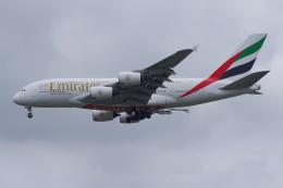 PASSENGERさんが、スワンナプーム国際空港で撮影したエミレーツ航空 A380-842の航空フォト(飛行機 写真・画像)