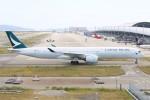 青春の1ページさんが、関西国際空港で撮影したキャセイパシフィック航空 A350-1041の航空フォト(写真)