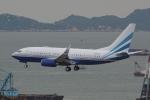 HEATHROWさんが、香港国際空港で撮影したラスベガス サンズ 737-74U BBJの航空フォト(写真)