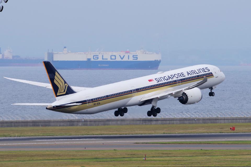 yabyanさんのシンガポール航空 Boeing 787-10 (9V-SCA) 航空フォト