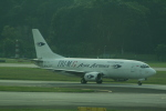 hachiさんが、シンガポール・チャンギ国際空港で撮影したトライエムジー イントラ アジア エアラインズ 737-301(SF)の航空フォト(写真)
