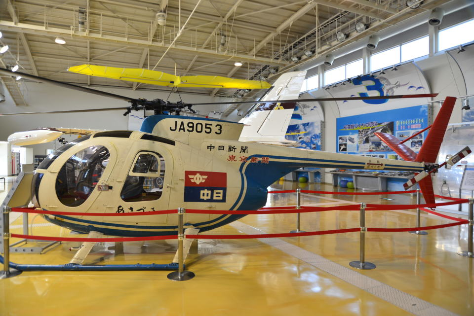 md11jbirdさんの中日新聞社 Kawasaki Hughes 369 (JA9053) 航空フォト