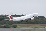 とらとらさんが、成田国際空港で撮影したスリランカ航空 A330-343Xの航空フォト(飛行機 写真・画像)