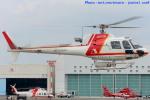 いおりさんが、東京ヘリポートで撮影した朝日航洋 AS350B3の航空フォト(写真)