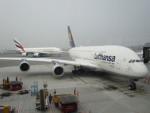 tomoataさんが、香港国際空港で撮影したルフトハンザドイツ航空 A380-841の航空フォト(写真)