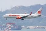 HEATHROWさんが、香港国際空港で撮影したマリンド・エア 737-8GPの航空フォト(写真)