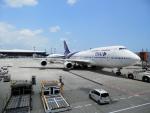 hachiさんが、成田国際空港で撮影したタイ国際航空 747-4D7の航空フォト(写真)