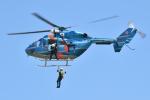 500さんが、蓮田市総合市民体育館パルシーで撮影した埼玉県警察 BK117C-1の航空フォト(写真)