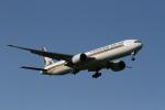 れもねりあさんが、成田国際空港で撮影したシンガポール航空 777-312/ERの航空フォト(飛行機 写真・画像)