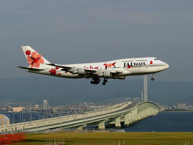 JALウェイズ Boeing 747-300 JA8187 関西国際空港  航空フォト   by Crosswindさん