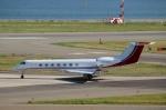 ハピネスさんが、関西国際空港で撮影したネットジェッツ・エイビエーション G500/G550 (G-V)の航空フォト(飛行機 写真・画像)