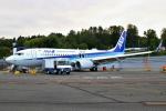 masa707さんが、レントン市営空港で撮影した全日空 737-8ALの航空フォト(写真)