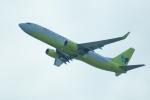 FRTさんが、関西国際空港で撮影したジンエアー 737-8Q8の航空フォト(飛行機 写真・画像)