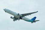 FRTさんが、関西国際空港で撮影したガルーダ・インドネシア航空 A330-343Eの航空フォト(飛行機 写真・画像)