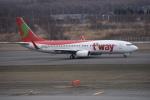 kumagorouさんが、新千歳空港で撮影したティーウェイ航空 737-8BKの航空フォト(飛行機 写真・画像)