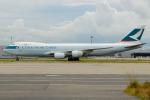 きんめいさんが、関西国際空港で撮影したキャセイパシフィック航空 747-867F/SCDの航空フォト(写真)