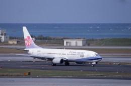 kumagorouさんが、那覇空港で撮影したチャイナエアライン 737-809の航空フォト(飛行機 写真・画像)