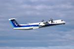 wish-blueさんが、高知空港で撮影したANAウイングス DHC-8-402Q Dash 8の航空フォト(写真)